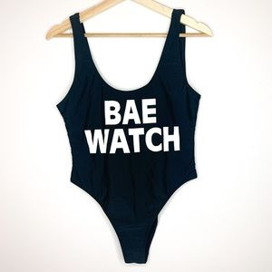 Revamped 'Bae Watch' High Side one piece swimsuit